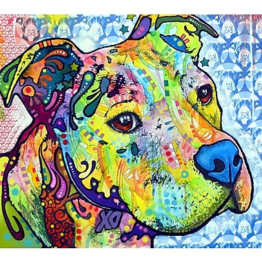 East Urban Home 'Thoughtful Pit Bull This Years Love 2013 Part 2' Graphic Art Print; Paper