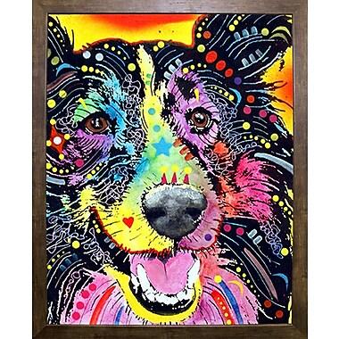 East Urban Home 'Sheltie' Graphic Art Print; Cafe Mocha Framed