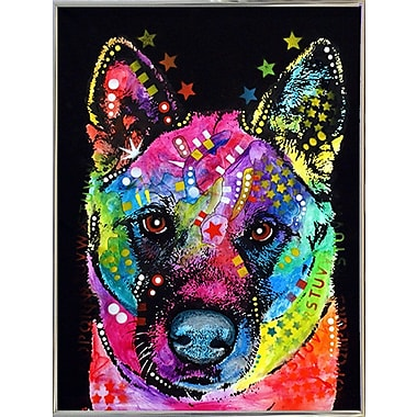 East Urban Home 'Akita' Graphic Art Print; Silver Metal Framed