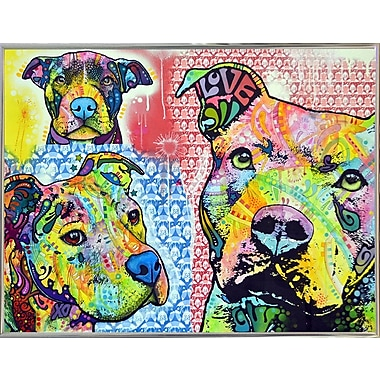 East Urban Home 'Thoughtful Pit Bull This Years Love 2013 Part 3' Graphic Art Print