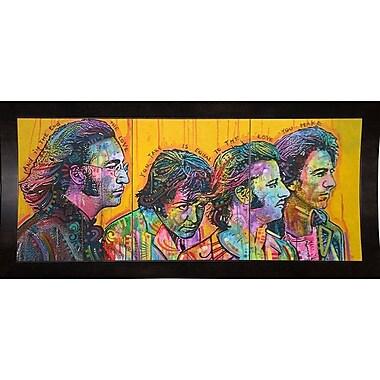 East Urban Home 'Beatles Pano' Graphic Art Print; Black Medium Framed