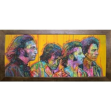 East Urban Home 'Beatles Pano' Graphic Art Print; Cafe Mocha Framed
