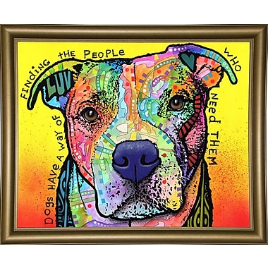 East Urban Home 'Dogs Have a Way' Graphic Art Print; Bistro Gold Framed