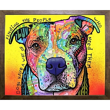East Urban Home 'Dogs Have a Way' Graphic Art Print; Cafe Mocha Framed