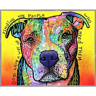 East Urban Home 'Dogs Have a Way' Graphic Art Print; White Metal Framed