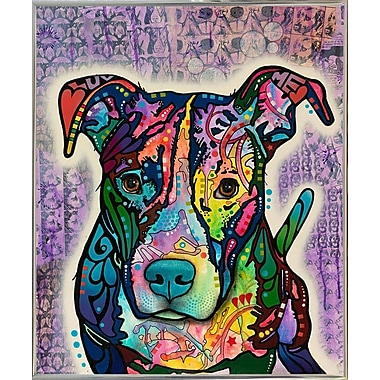 East Urban Home 'Luv Me' Graphic Art Print; Silver Metal Framed