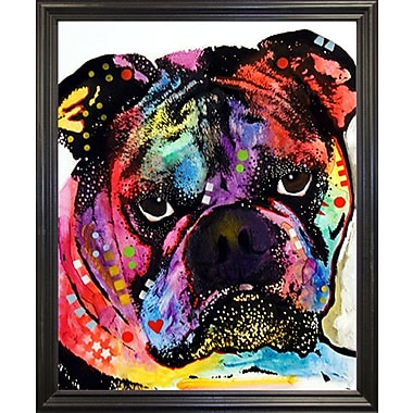 East Urban Home 'Bulldog' Rectangle Graphic Art Print; Black Grande Framed