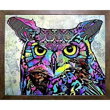 East Urban Home 'The Owl' Graphic Art Print; Cafe Mocha Framed
