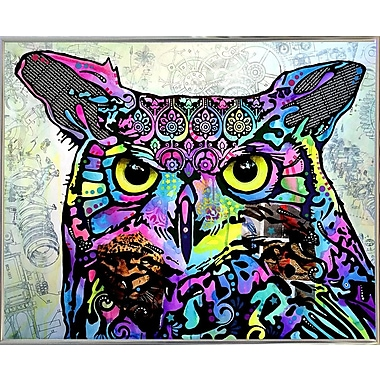East Urban Home 'The Owl' Graphic Art Print; Silver Metal Framed