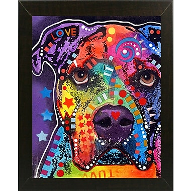 East Urban Home 'American Bulldog 121609' Graphic Art Print; Brazilian Walnut Medium Framed