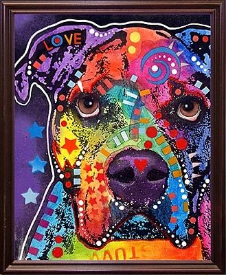 East Urban Home 'American Bulldog 121609' Graphic Art Print; Cherry Grande Framed