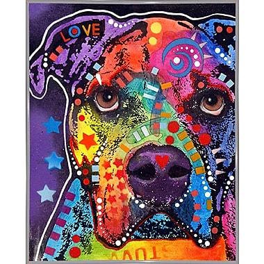 East Urban Home 'American Bulldog 121609' Graphic Art Print; White Metal Framed