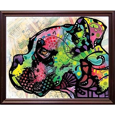 East Urban Home 'Profile Boxer Deco' Graphic Art Print; Cherry Grande Framed