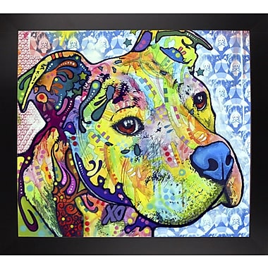 East Urban Home 'Thoughtful Pit Bull This Years Love 2013 Part 2' Graphic Art Print