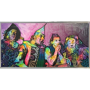 East Urban Home 'Wizard Of Oz' Graphic Art Print; Silver Metal Framed