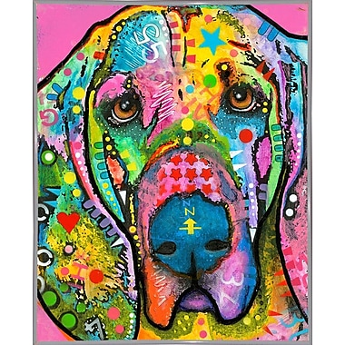 East Urban Home 'Bloodhound' Graphic Art Print; White Metal Framed
