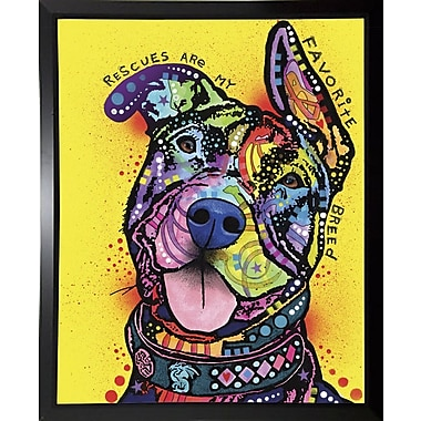 East Urban Home 'My Favorite Breed' Graphic Art Print; Budget Saver Framed