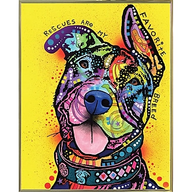 East Urban Home 'My Favorite Breed' Graphic Art Print; Gold Metal Framed