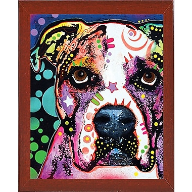 East Urban Home 'American Bulldog' Graphic Art Print; Red Mahogany Medium Framed
