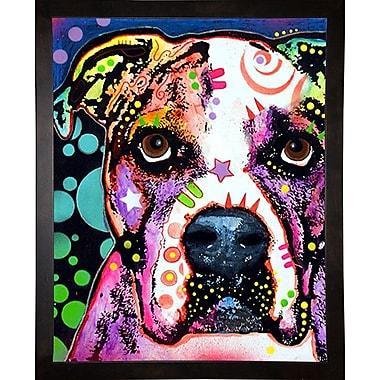 East Urban Home 'American Bulldog' Graphic Art Print; Cafe Espresso Framed