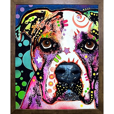 East Urban Home 'American Bulldog' Graphic Art Print; Cafe Mocha Framed