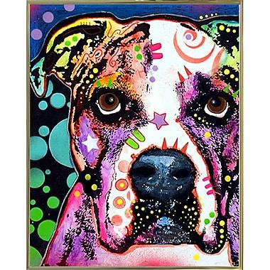 East Urban Home 'American Bulldog' Graphic Art Print; Gold Metal Framed
