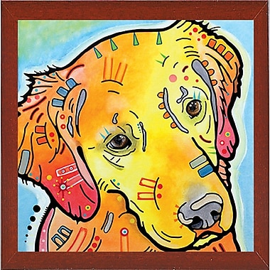 East Urban Home 'The Golden(ish) Retriever' Graphic Art Print; Red Mahogany Medium Framed