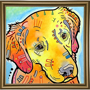 East Urban Home 'The Golden(ish) Retriever' Graphic Art Print; Bistro Gold Framed