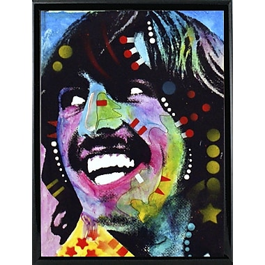 East Urban Home 'George Harrison' Graphic Art Print; Black Metal Framed