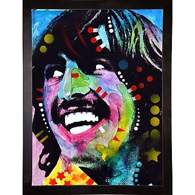 East Urban Home 'George Harrison' Graphic Art Print; Cafe Espresso Framed