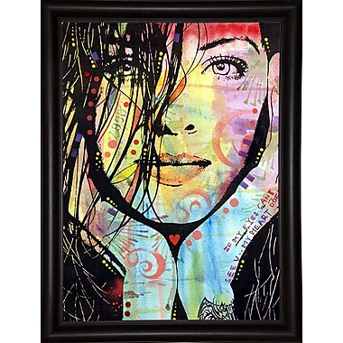 East Urban Home 'My Eyes Can?t See U' Graphic Art Print; Bistro Espresso Framed