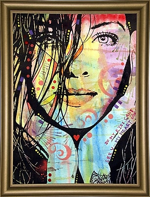 East Urban Home 'My Eyes Can?t See U' Graphic Art Print; Bistro Gold Framed