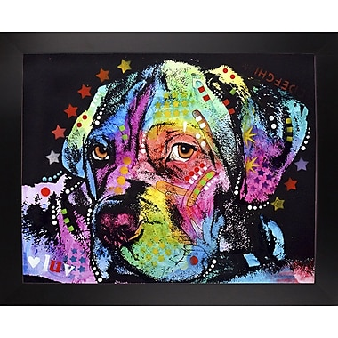 East Urban Home 'Young Mastiff' Graphic Art Print; Black Large Framed