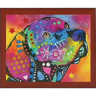 East Urban Home 'Psychedelic Lab' Graphic Art Print; Red Mahogany Medium Framed