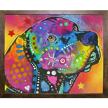East Urban Home 'Psychedelic Lab' Graphic Art Print; Cafe Mocha Framed