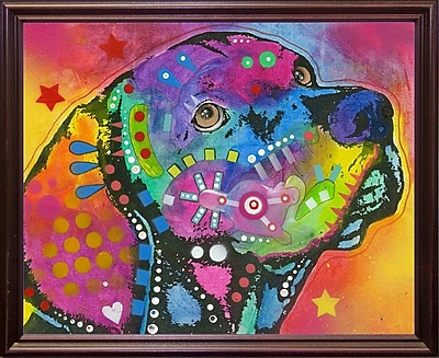 East Urban Home 'Psychedelic Lab' Graphic Art Print; Cherry Grande Framed