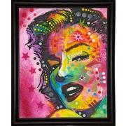East Urban Home 'Marilyn' Frame Graphic Art Print; Bistro Espresso Framed