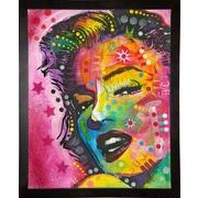East Urban Home 'Marilyn' Frame Graphic Art Print; Cafe Espresso Framed