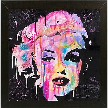 East Urban Home 'Marilyn Monroe' Graphic Art Print; Brazilian Walnut Medium Framed
