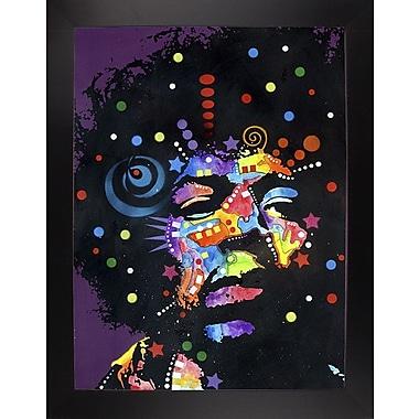 East Urban Home 'Jimi' Graphic Art Print; Black Large Framed