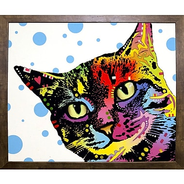 East Urban Home 'The Pop Cat' Graphic Art Print; Cafe Mocha Framed