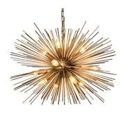 George Oliver Ullman 12-Light Sputnik Chandelier; 55'' H x 24'' W x 24'' D