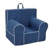 Harriet Bee Glenwood Classic Kids Cotton Chair w/ Handle; Navy Blue/White