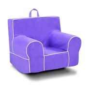 Harriet Bee Goussainville Classic Kids Chair w/ Handle; Purple/White