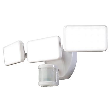 Heath-Zenith 240 Motion Activated 3-Light LED Security Light; White