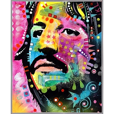 East Urban Home 'Ringo Starr' Graphic Art Print; White Metal Framed