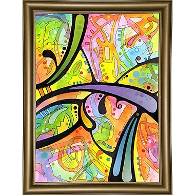 East Urban Home 'Abstract' Graphic Art Print; Bistro Gold Framed