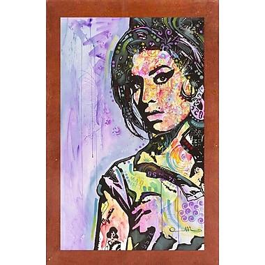 East Urban Home 'Amy Winehouse' Graphic Art Print; Canadian Walnut Medium Framed