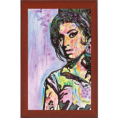 East Urban Home 'Amy Winehouse' Graphic Art Print; Red Mahogany Medium Framed