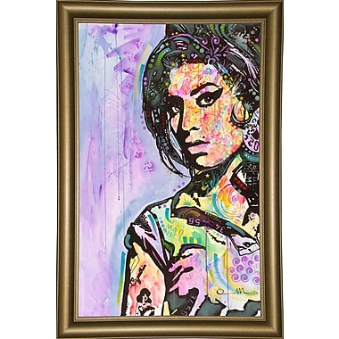 East Urban Home 'Amy Winehouse' Graphic Art Print; Bistro Gold Framed